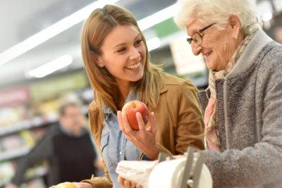 women doing grocery